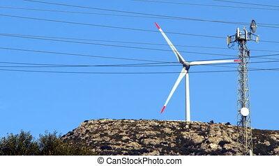 pool, macht, energie, wind molen