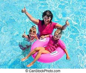 pool., natation famille