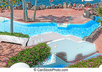 pool on tropical island of Tenerife