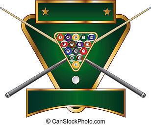 Pool or Billiards Emblem Design - Illustration of a pool or...