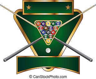 Pool or Billiards Emblem Design - Illustration of a pool or...