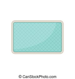 Pool plan. View from above. Vector illustration.