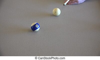 pool player at billiards table - Professional pool player at...