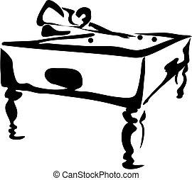 Pool Player - playing pool