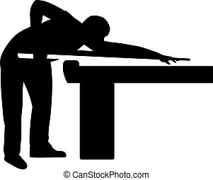 Pool Player Table Billiards