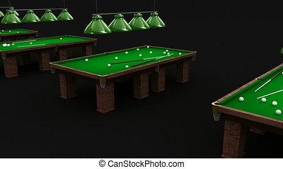 Pool recreation center interior
