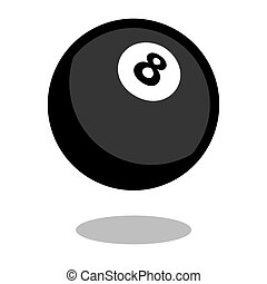 Pool snooker play billiard cue sport ball logo vector line 3d game icon isolated