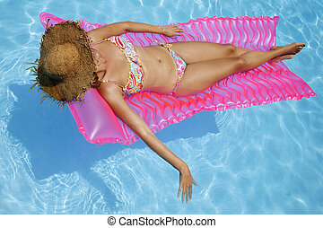 Pool Sunbather