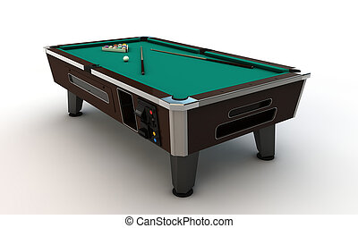 pool table isolated on white background