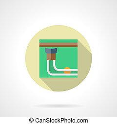 Pool table pocket flat round vector icon