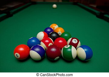 Pool Table Setup >> Pool Table Pool Balls Set Up For Beginning