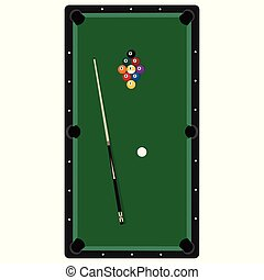 Pool table vector