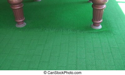 pool table with billiards