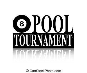 pool, toernooi, silhouette, meldingsbord