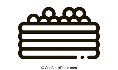 pool with colorful balls Icon Animation. black pool with colorful balls animated icon on white background