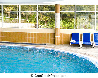 Pool with sea water on seacoast