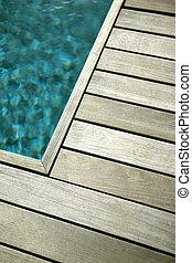 Pool wooden terrace