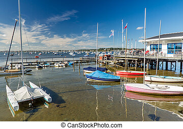 Poole Harbour Dorset England - Poole Harbour from Sandbanks...