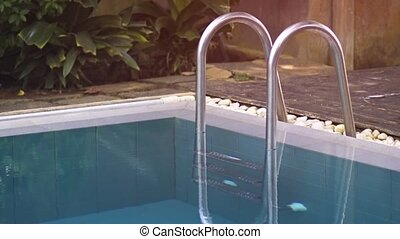 Poolside Access Ladder at Tropical Resort in Hikkaduwa -...