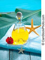 Poolside aromatherapy spa treatment