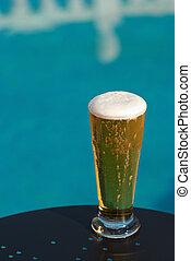 Poolside beer