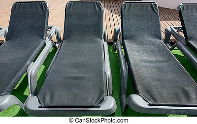 Poolside benches