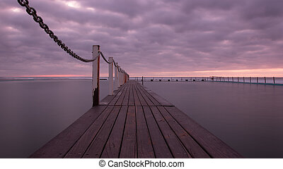 Sunrise at Narrabeen Pools, Northern Beaches of Sydney.