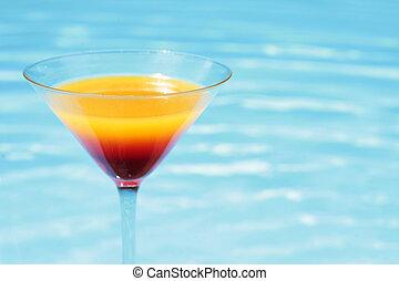 poolside, verano, cóctel