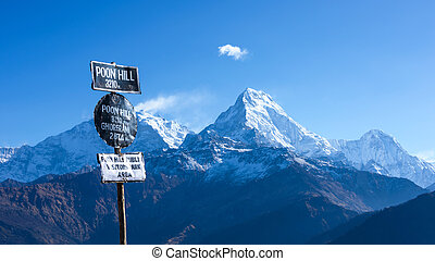 Poon Hill view point in Ghorepani, Nepal