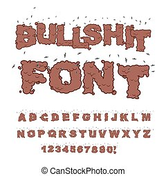poop, alfabeto, insects., bullshit, mau, font., texto,...