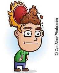 Poop For Brains Cartoon Character
