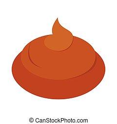 Poop icon, isometric 3d style