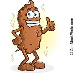Poop Thumbs Up Cartoon Character