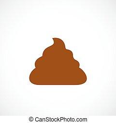 Poop vector icon