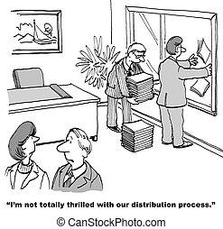 Poor Distribution Process - Cartoon of business people...