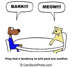 Poor Listening Skills - Business cartoon about poor...