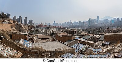 Poor part of chinese city