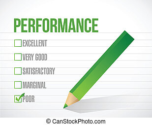 poor performance review illustration design graphic over white background