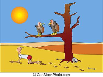 poor prospects - vector - Humorous illustration - poor ...