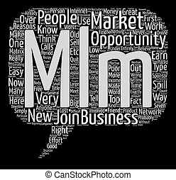 Poor reasons to get involved in MLM Word Cloud Concept Text ...