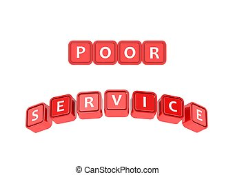 Poor service - Rendered artwork with white background