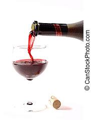 Pooring wine
