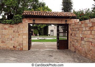 poort, ingang