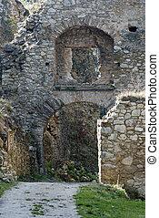 poort, om te, het kasteel, lietava