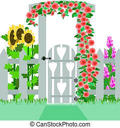 poort, tuin