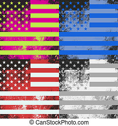 Pop Art American Flag Design