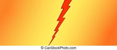 Pop art background of comparison with red lightning on background with halftone effect. Versus screen. Template for sports events, challenge or contest. Vector poster with lightning for superhero.