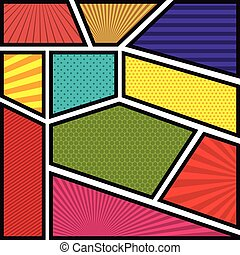 pop art background style poster