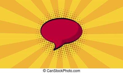 Pop art blank red bubble HD definition - Pop art blank red...