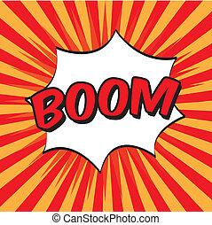 pop art boom - pop art with boom text over grunge background...